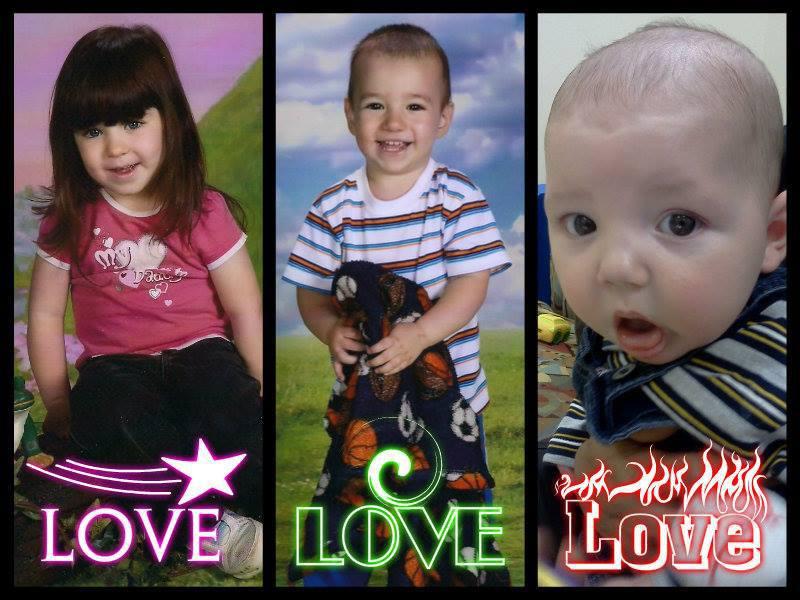 Hazel, Travis, and Aiden