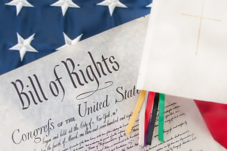 bill of rights next to Bible