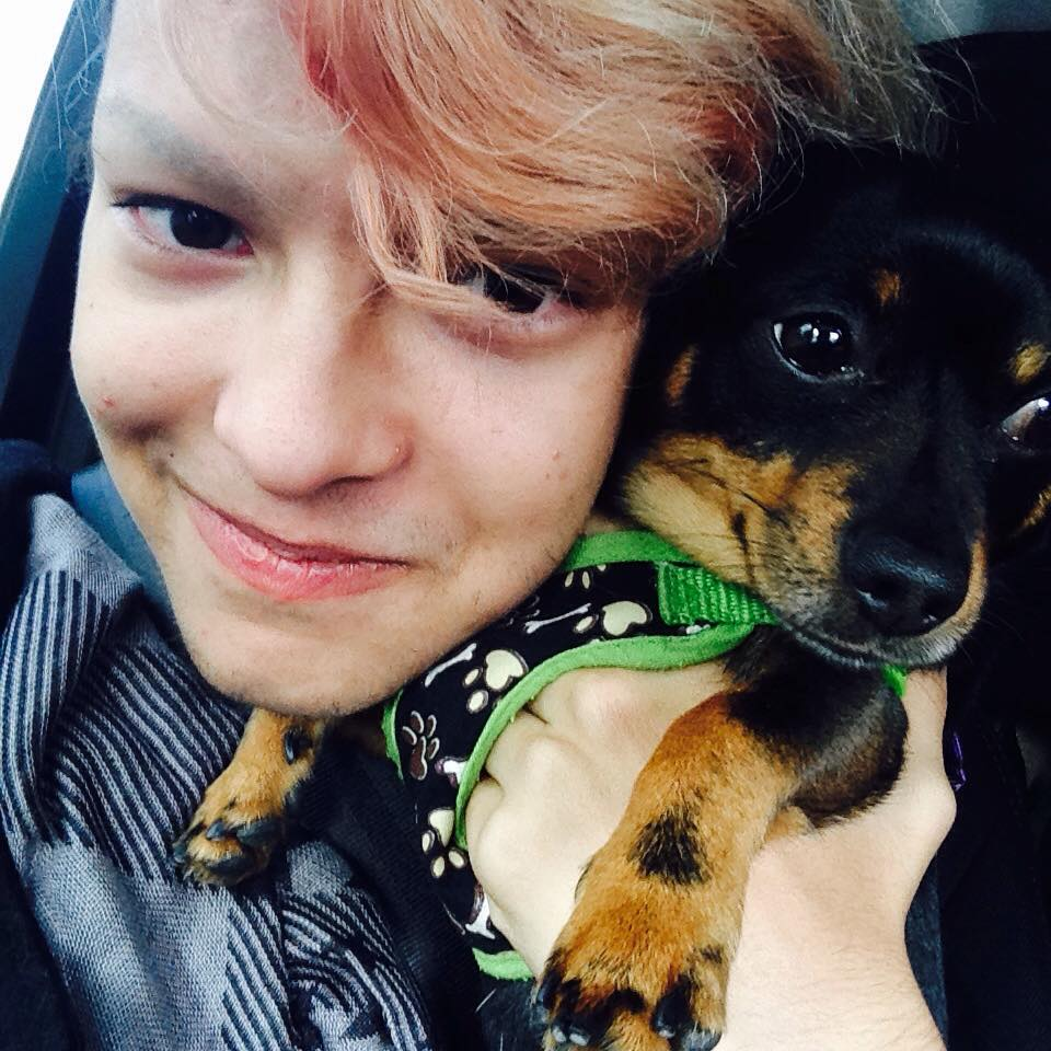 Marcky and his dog